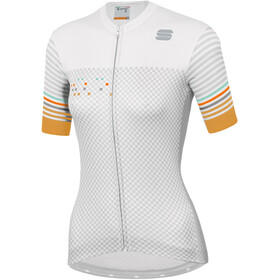 Sportful Sticker Jersey Dames, white silver gold